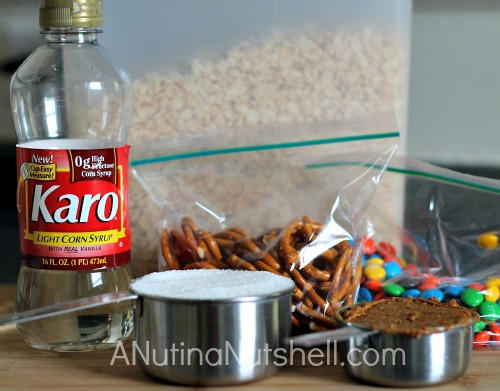 Crispy pretzel bars ingredients