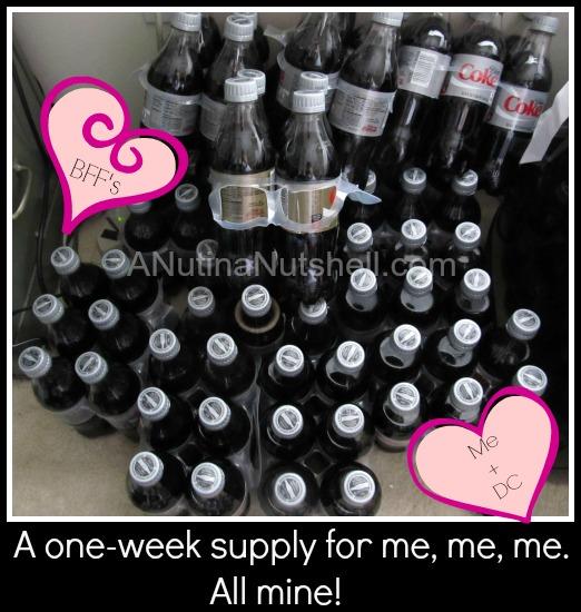 Diet Coke stash