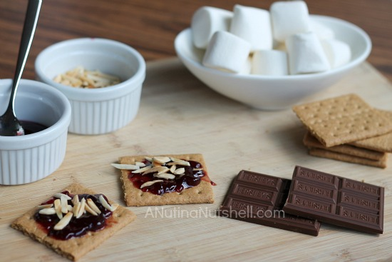 Fisher Nuts chocolate raspberry s'mores