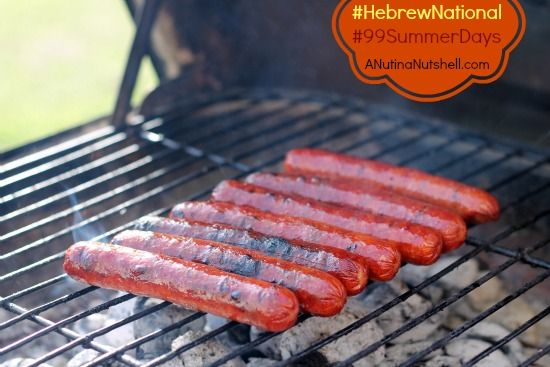 Hebrew National hotdogs on grill
