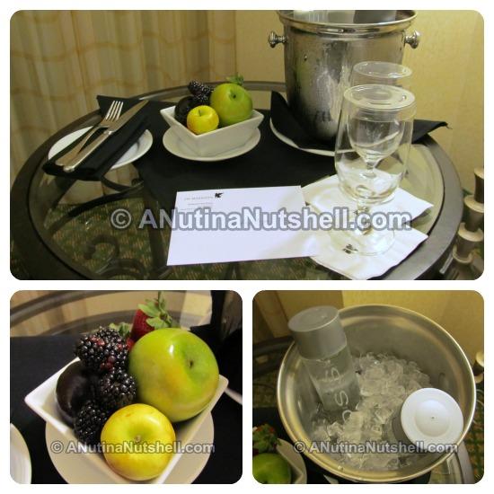 JW Marriott welcome refreshments