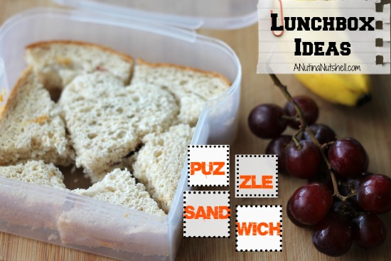 Lunchbox ideas - Puzzle sandwich