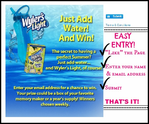 Wyler's Light sweepstakes