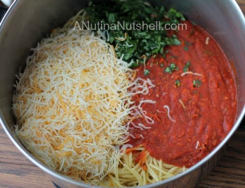 spicy spaghetti pie ingredients
