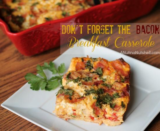 Bacon Sourdough Breakfast Casserole recipe