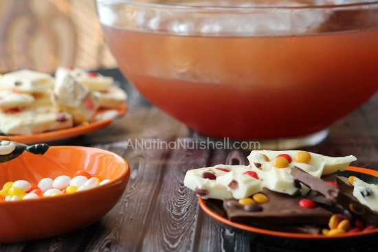 Chocolate M&M's Fall Recipes #shop #harvestfun - Mott's apple juice