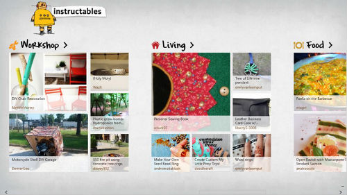 Instructables Windows 8 app