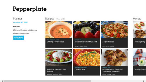 Pepperplate Windows 8 app