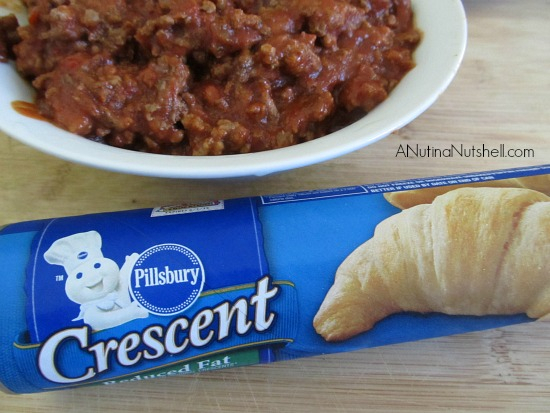 Pillsbury Crescents - sloppy joe
