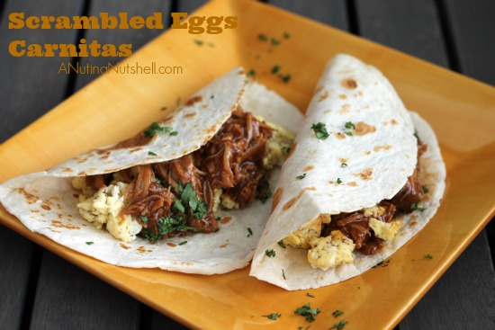 Scrambled Eggs Carnitas #recipe