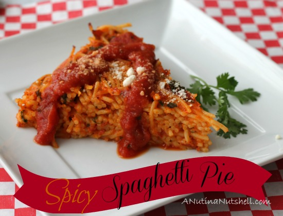 Spicy Spaghetti Pie #recipe