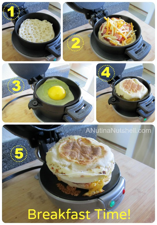 how to use Hamilton Beach Breakfast Sandwich Maker