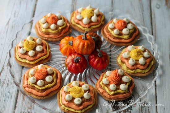 Fall Flower molded cookies #CakeBoss