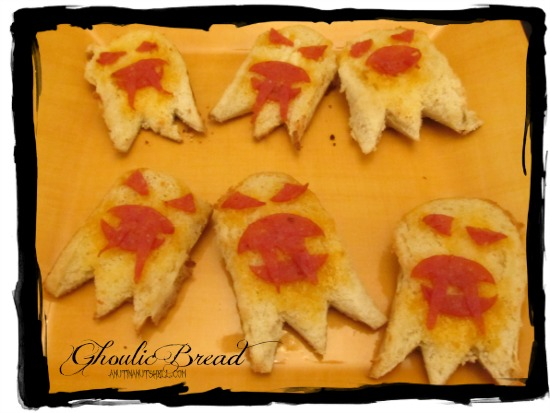 Ghoulic Bread - Garlic Bread - #Halloween