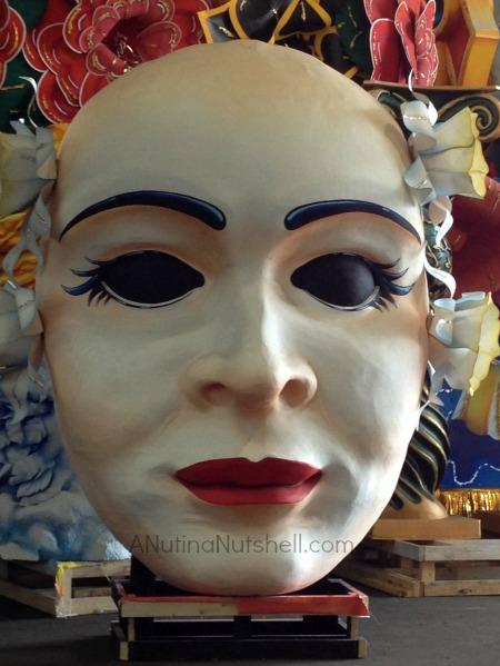 Mardi Gras World float mask head