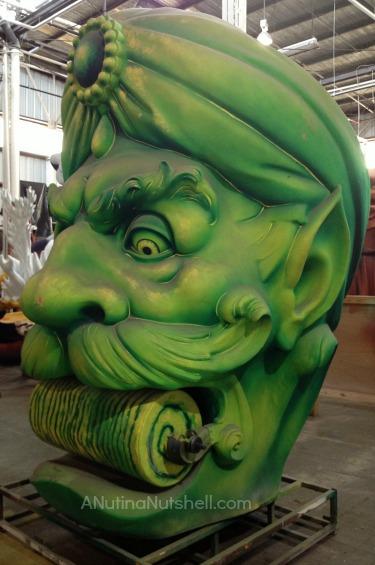 Mardi Gras World wizard of oz float head