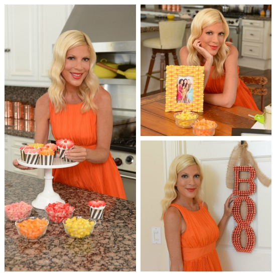 Tori Spelling Starburst candy corn - Fall candy craft projects