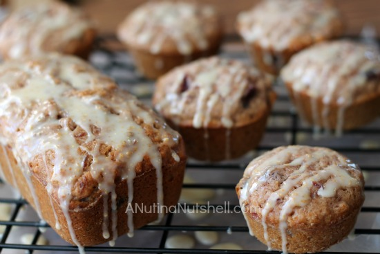 glazed cranberry orange bread and muffins