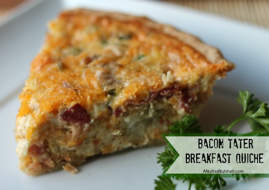 Bacon Tater Breakfast Quiche