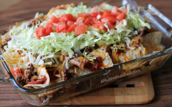 Big game nachos - layered nachos