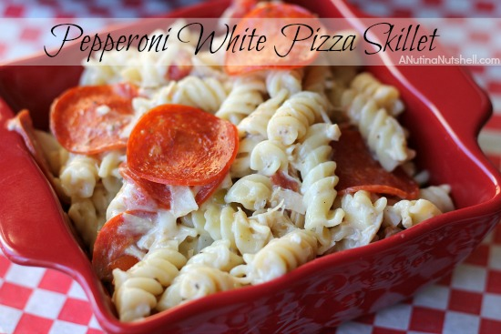 Pepperoni White Pizza Skillet 049