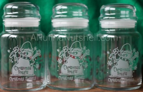 Personal Creations Christmas Treats jars
