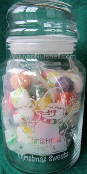 Personal Creations christmas treats candy jar