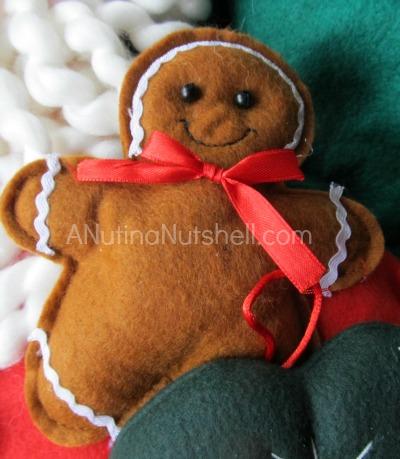 Personal Creations gingerbread man on santa advent calendar