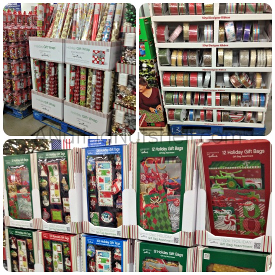 Sam's Club holiday wrapping supplies