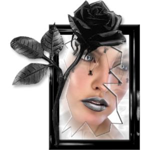 face in mirror