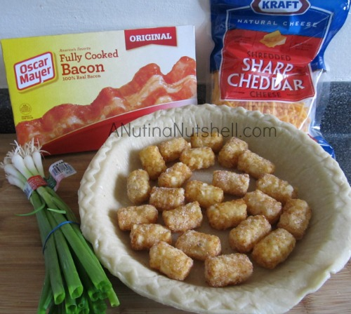 ingredients for bacon tater tot quiche