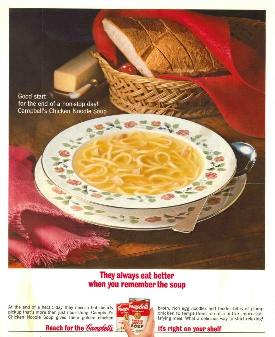 1964 Campbell's Noodle Soup Print Ad