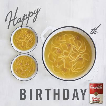 Happy 80th Birthday Campbell's Chicken Noodle Soup