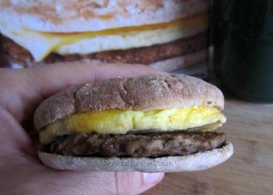 Jimmy Dean Delights Turkey Sausage Breakfast sandwich