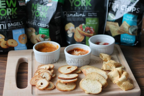 New York Style snack chips and dip