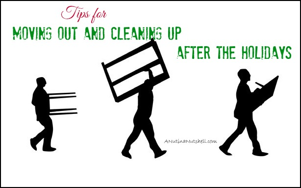 Tips for Moving Out - Cleaning Up After the Holidays