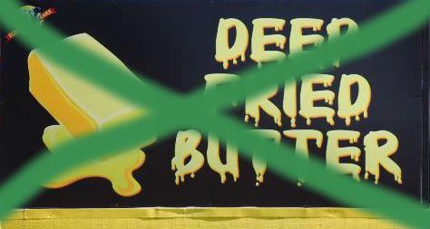 no deep fried butter