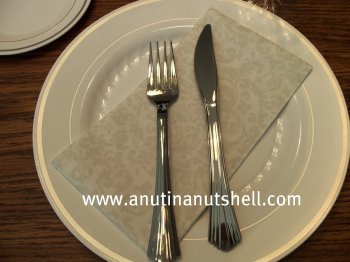 disposable plates and cutlery