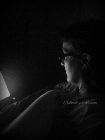 watching movie at night