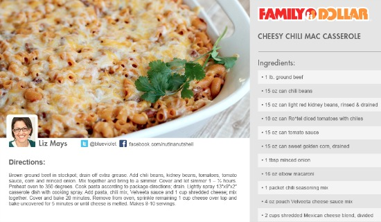Cheesy Chili Mac Casserole recipe