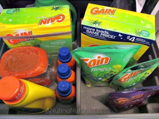 Gain detergent-Tide detergent