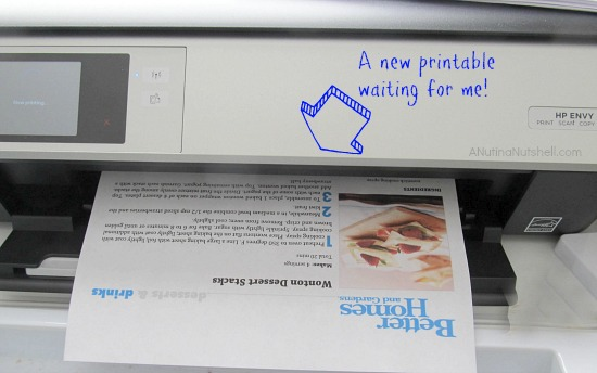 scheduled printables - #HPPrintables