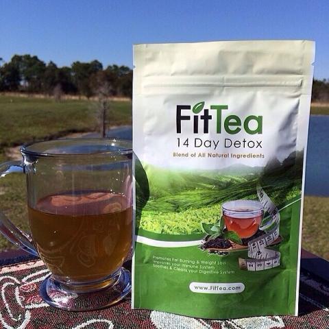 FitTea hot tea in mug