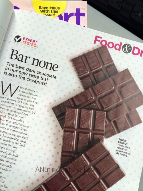ShopSmart magazine best dark chocolate taste test