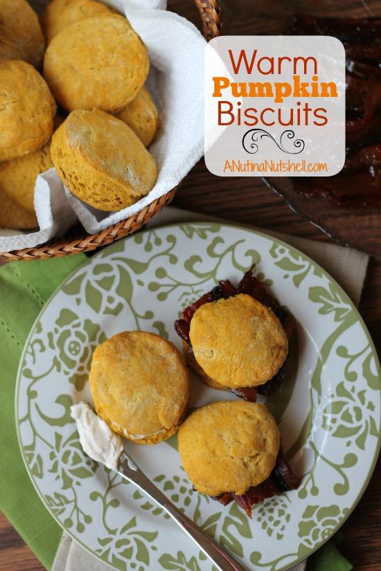 Warm Pumpkin Biscuits #recipe