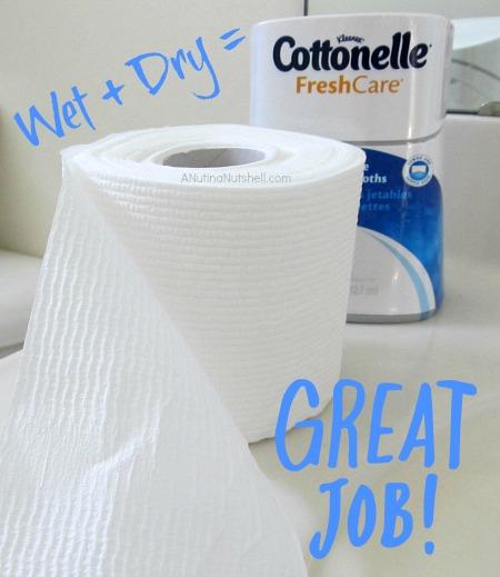 Cottonelle wet + dry system