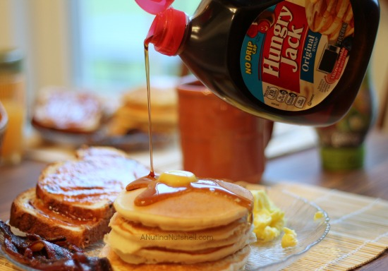 Hungry Jack pancakes-syrup-breakfast for dinner