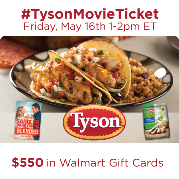 #TysonMovieTicket Twitter Party Friday, May 16 from 1-2 pm ET #shop