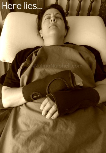 sleeping with wrist braces