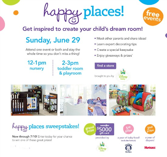 Babies R Us Happy Places sweepstakes